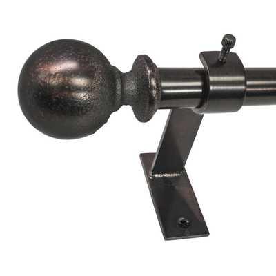 North Branch Ball Telescoping Single Curtain Rod and Hardware Set - Wayfair