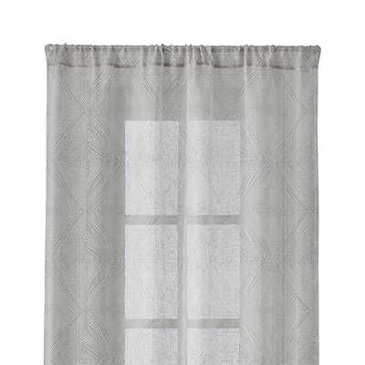 """Torben Grey 48""""x84"""" Curtain Panel - Crate and Barrel"""