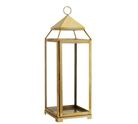 Malta Brass Lantern - Large - Pottery Barn