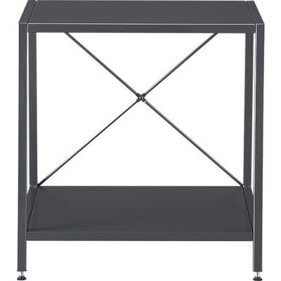 harvey carbon grey nightstand - CB2