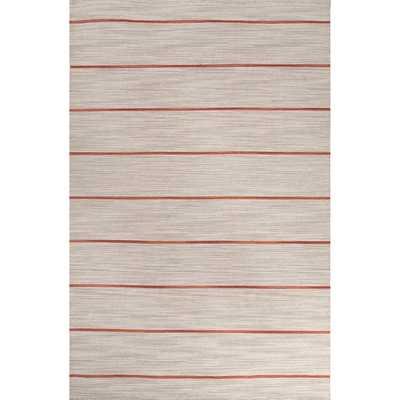 Handmade Stripe Pattern  Wool Rug - Overstock