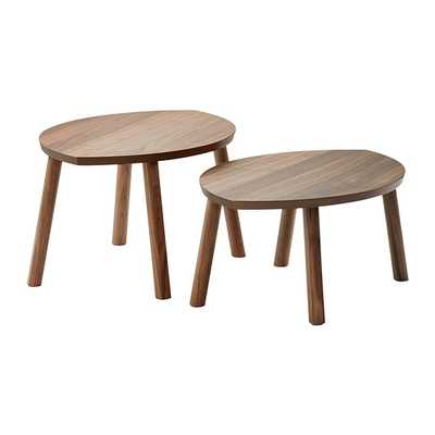 STOCKHOLM Nesting tables, set of 2, walnut veneer - Ikea