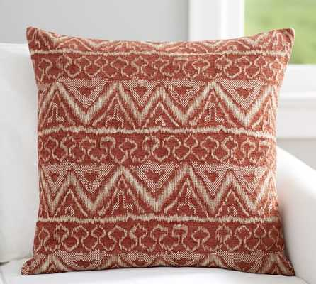"Ikat Jacquard Pillow Cover- 24"" sq-Multicolored- Insert sold separately. - Pottery Barn"