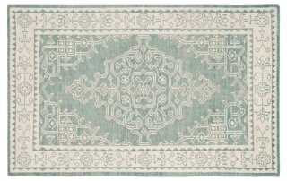 Cepe Rug, Ivory/Blue - One Kings Lane