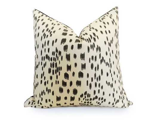 """Linen Pillow Cover with black piping - 20"""" x 20"""" - Insert sold separately - Etsy"""