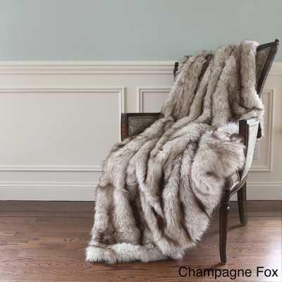 Aurora Faux Fur Throw Blanket - Overstock