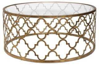 Brooks Coffee Table, Gold Leaf - One Kings Lane