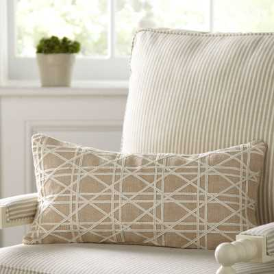 "Emma Jute Lumbar Pillow Cover- 11"" H x 21"" W-  insert sold separately - Wayfair"