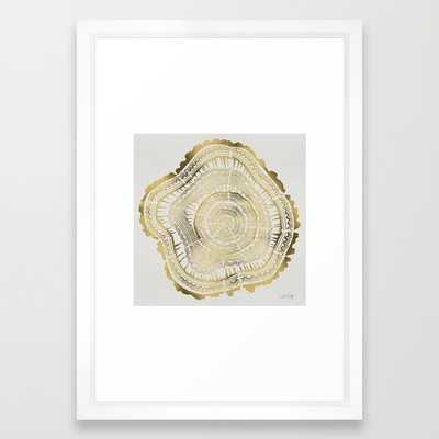 Gold Tree Rings - Society6