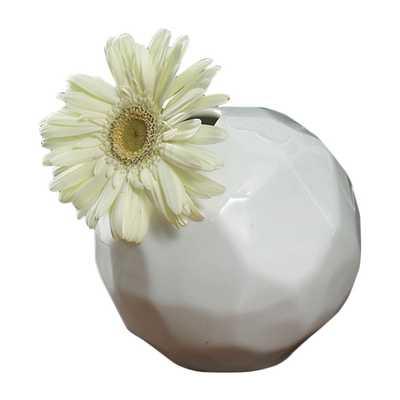 Snowball Bud Vase - Domino