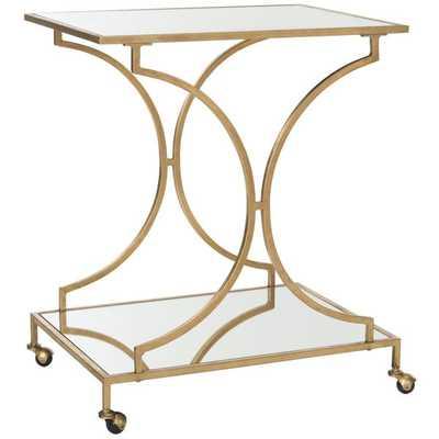 Safavieh Ignatius Gold/ Mirror Top Bar Cart - Overstock