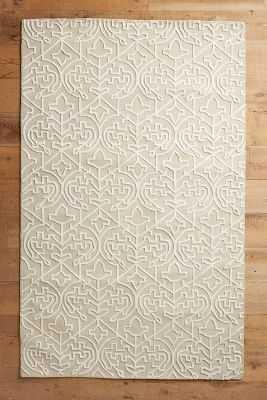 Open Scroll Rug- Grey, 5x8 - Anthropologie