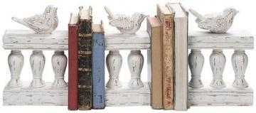 BIRDS ON FENCE BOOKENDS - SET OF 3 - Home Decorators