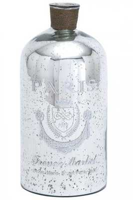 FRENCH MARKET MERCURY GLASS BOTTLE - Home Decorators