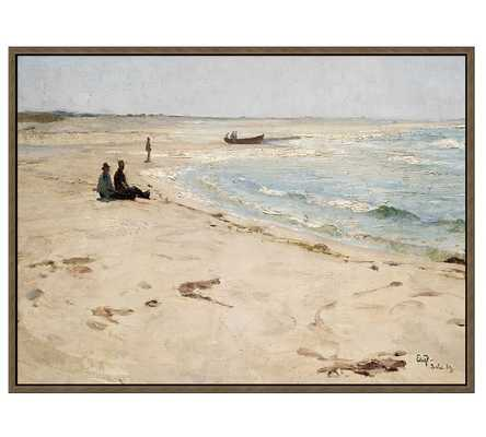 "OFF THE COAST PRINT- 31.25"" wide x 23.25"" high x 1.5"" thick- Tan frame - Pottery Barn"