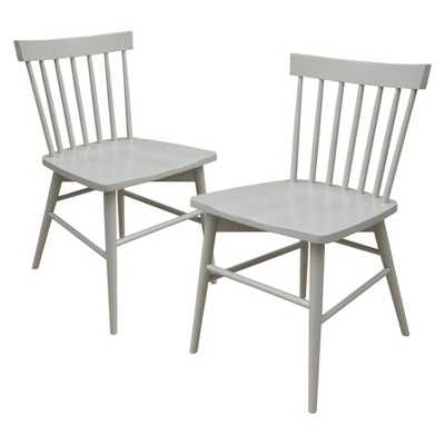 Windsor Dining Chair Wood (Set of 2) - Gray - Target