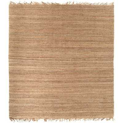 Hand-woven Natural Fiber Jute Rug (8' Square) - Overstock