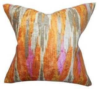 Ikat  Cotton Pillow, Multi - One Kings Lane