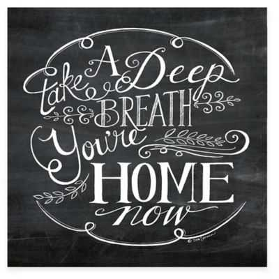 """""""You are Home"""" Canvas Wall Art - 16x16 - Unframed - Bed Bath & Beyond"""