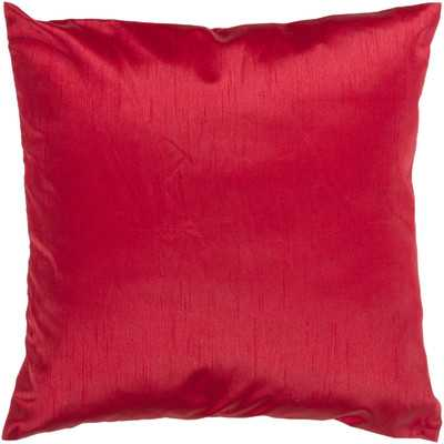 """Amelia Solid Luxe Throw Pillow-18"""" x 18""""-red-Insert - Wayfair"""
