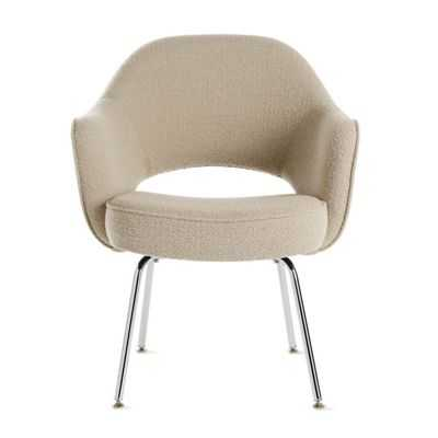 Saarinen Executive Armchair with Metal Legs in Fabric - Design Within Reach