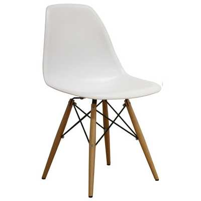 Azzo Shell Side Chair - White - AllModern
