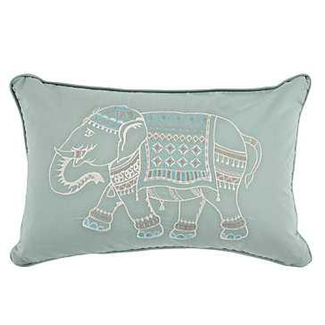 Elephant Pillow - Blue - 18''W x 12''H - with insert - Z Gallerie