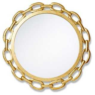"24"" Chain Mirror, Gold - One Kings Lane"