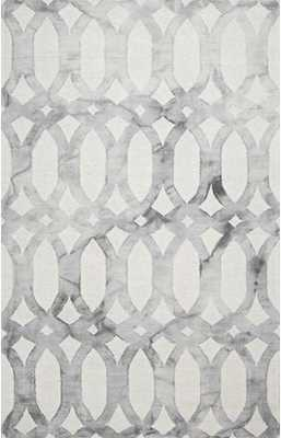 Dip Dyed DD01 Stained Glass Trellis Rug - Grey - 5' x 8' - Rugs USA