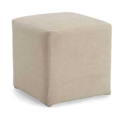 Cube Ottoman - Ivory - AllModern