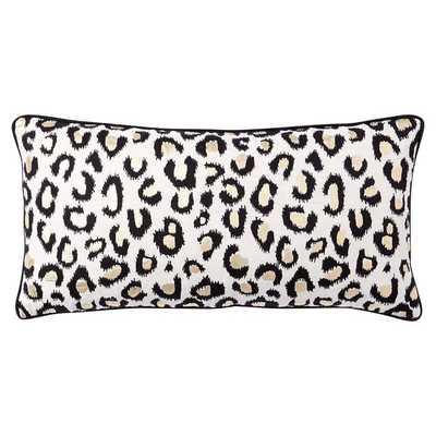 The Emily + Meritt Leopard Lumbar Pillow Cover - Pottery Barn Teen
