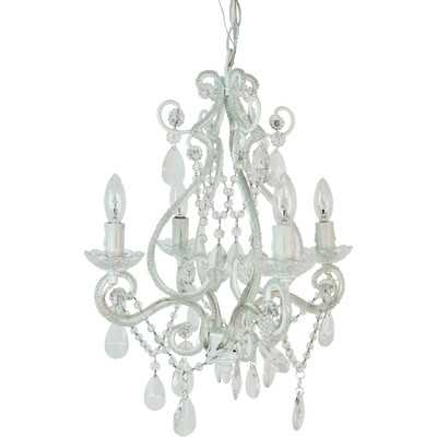 Tadpoles 4 Light Chandelier - White - Wayfair