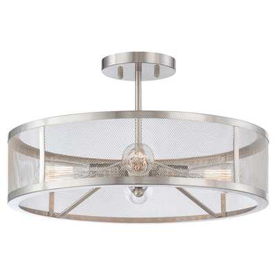 Downtown Edison 4 Light Semi-Flush Mount - Wayfair
