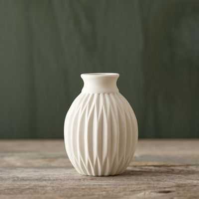 Geometric Wide Mouth Porcelain Vase, Medium - shopterrain.com