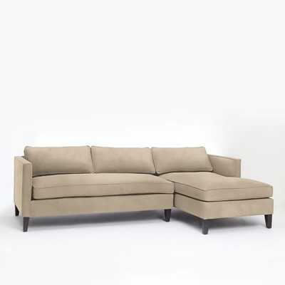 Dunham Down-Filled 2-Piece Right Chaise Sectional - Box Cushion - West Elm