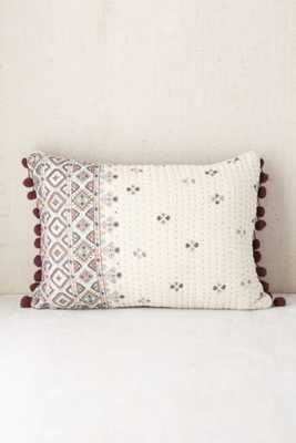 Plum & Bow Corta Quilted Floral Pillow - Urban Outfitters