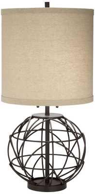 Alloy Globe Metal Table Lamp - Lamps Plus