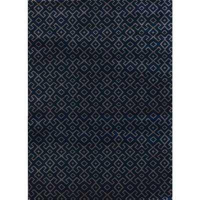Bronte Aztec Navy Area Rug (5'3 x 7'3) - Overstock