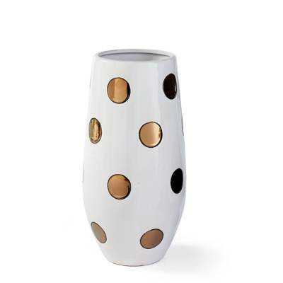 Ceramic Dot Vase - Grandin Road