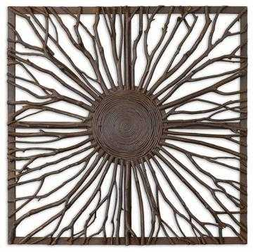 RADIATING BRANCHES SQUARE WALL PLAQUE - Home Decorators