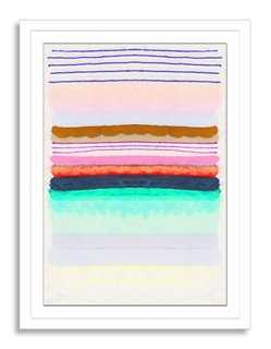 Kristi Kohut, Sugared Stripe - 18x24 - Framed - One Kings Lane