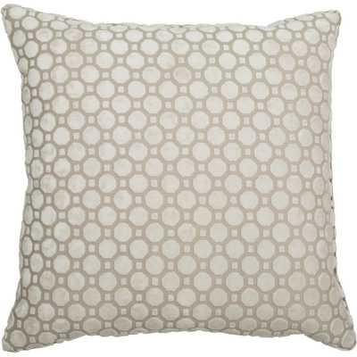 "Vapor Pearl Throw Pillow - 21"" x 21"" - Feather/down insert - High Fashion Home"