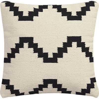 "Zbase 16"" pillow- Ivory/black- With insert - CB2"