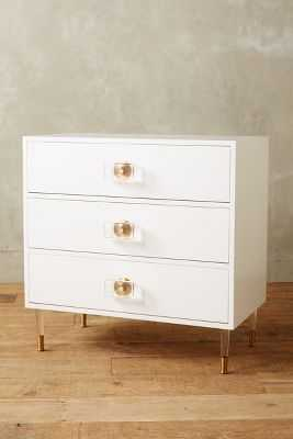 Lacquered Regency Three-Drawer Dresser - White - Anthropologie
