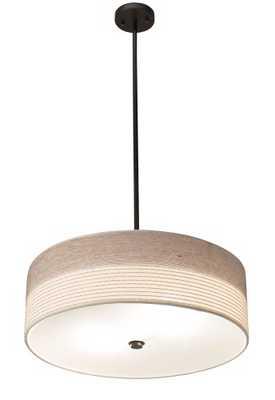 """Bronze 20"""" Wide Pendant Light - Lamps Plus"""