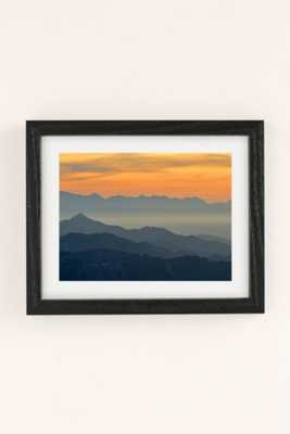 Guido Montanes Sunset Mountains Art Print - 30x40 Framed - Urban Outfitters