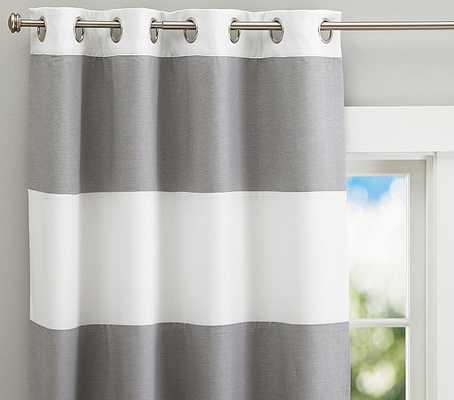 """Hayden Rugby Blackout Panel - 44 X 84"""" - Gray - Pottery Barn Kids"""