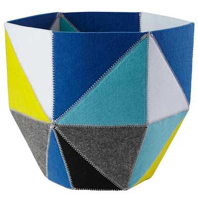 Quartz Cube Bin (Blue) - Land of Nod