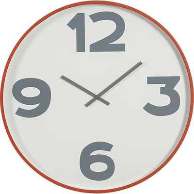 "12-3-6-9 24"" wall clock - CB2"