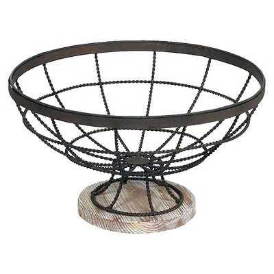 Black and Wood Nautical Bowl - Target